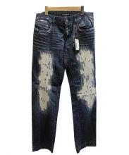 DOLCE & GABBANA(ドルチェ&ガッバーナ)の古着「クラッシュデニムパンツ」|ブルー