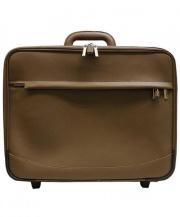 YUKINO×UNITED ARROWS(ユキノ×ユナイテッド アローズ)の古着「CALF TROLLEY スーツケース/キャリーバッグ」|モカ