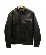 SCHOTT BROS.(ショットブロス)の古着「641レザーライダースジャケット」 ブラック