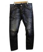 DSQUARED2(ディースクエアード)の古着「Sexy Twist Chain Jeans デニム」|インディゴ