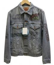 Hysteric Glamour(ヒステリックグラマー)の古着「USED加工デニムジャケット」|インディゴ