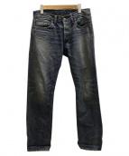 RRL(ダブルアールエル)の古着「LOW STRAIGHT デニム」|インディゴ