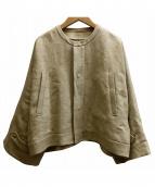 Drawer(ドゥロワー)の古着「オーバーサイズノーカラージャケット」|ベージュ