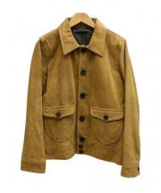 TMT(ティーエムティー)の古着「スウェードカウレザージャケット」|ベージュ