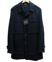 COMME des GARCONS HOMME DEUX(コムデギャルソンオムドゥ)の古着「WOOLロングコート」|ブラック