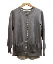sacai(サカイ)の古着「Wool Knit Cardiganカーディガン」 グレー