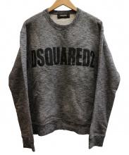 DSQUARED2(ディースクエアード)の古着「USED加工ロゴスウェット」|グレー