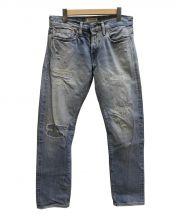 Ron Herman(ロンハーマン)の古着「クラッシュリペアデニム」 スカイブルー
