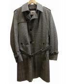 TAKEO KIKUCHI(タケオキクチ)の古着「VANKSグレンチェックライナー付トレンチコート」 グレー