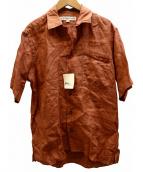 INDIVIDUALIZED SHIRTS(インディビジュアライズドシャツ)の古着「オープンカラーシャツ」|ブラウン