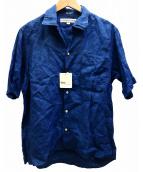INDIVIDUALIZED SHIRTS(インディビジュアライズドシャツ)の古着「オープンカラーシャツ」|ブルー