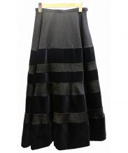 tricot COMME des GARCONS(トリココムデギャルソン)の古着「ロングベルベットスカート」|ブラック