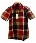 BLACK LABEL CRESTBRIDGE(ブラックレーベルクレストブリッジ)の古着「リネンMIXチェックシャツ」