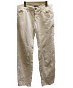 DOLCE&GABBANA(ドルチェ&ガッバーナ)の古着「ホワイトデニムパンツ」|ホワイト