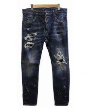 DSQUARED2(ディースクエアード)の古着「BLEACHED HOLE LIGHT SKATER デニム」