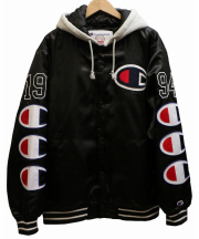 Supreme×CHAMPION(シュプリーム×チャンピオン)の古着「Hooded Satin Varsity ジャケット」
