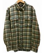 RRL(ダブルアールエル)の古着「Cotton-Linen Workshirt シャツ」 黄緑
