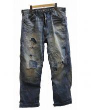 RRL(ダブルアールエル)の古着「リペア加工ペインターデニム」