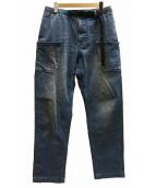 GRAMICCI×GRIP SWANY(グラミチ×グリップスワニー)の古着「DENIM GARDEN PANTS デニムパンツ」|スカイブルー