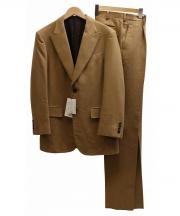 TAKEO KIKUCHI(タケオキクチ)の古着「キャメルウールセットアップスーツ」