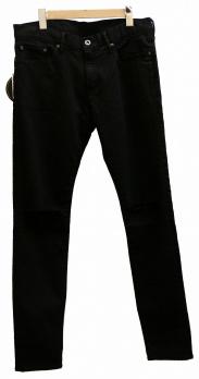 Hysteric Glamour(ヒステリックグラマー)の古着「クラッシュブラックデニムパンツ」