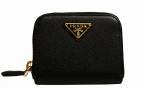 PRADA(プラダ)の古着「SAFFIANO TRIANGミニウォレット 財布」