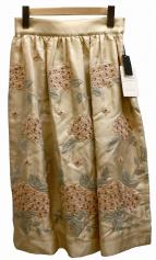 nesessaire(ネセセア)の古着「刺繍スカート」|ベージュ