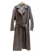 yuni(ユニ)の古着「ベルテッドコート」|ブラウン