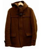 LITHIUM HOMME(リチウム オム)の古着「MELTON SHORT DUFFLE ダッフルコート」|ブラウン