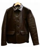 Muller & Bros(ミューラーアンドブロス)の古着「カーコートレザージャケット」 ブラウン