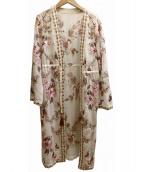 GRACE CONTINENTAL(グレースコンチネンタル)の古着「エンブロイダリー刺繍ガウン」