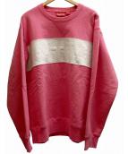 Supreme(シュプリーム)の古着「ロゴスウェット」|ピンク