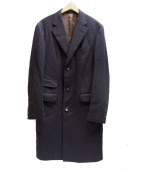 BOGLIOLI(ボリオリ)の古着「ヘリンボーンWチェスターコート」|ネイビー