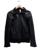 STUDIOUS×shama(ステュディオス×シャマ)の古着「レザートラックジャケット」|ブラック