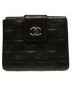 CHANEL(シャネル)の古着「アイコンミニウォレット 財布」|ブラック