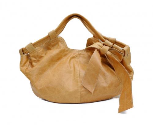 genten(ゲンテン)genten (ゲンテン) ハンドバッグ ベージュの古着・服飾アイテム