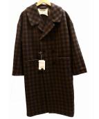 fig London(フィグロンドン)の古着「ダブルロングコート」|ブラウン