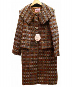 peu pres(プープレ)の古着「ミックスツイードコート」|ブラウン