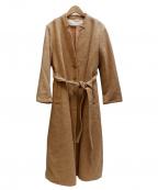 latelier du savon(アトリエドゥサボン)の古着「ロングベルテッドコート」|ブラウン