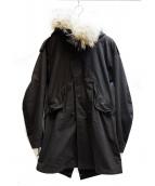 LAD MUSICIAN(ラッドミュージシャン)の古着「ライナー付モッズコート」|ブラック