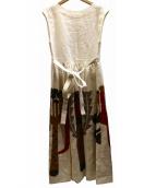 peu pres(プープレ)の古着「リネンロングワンピース」|ホワイト