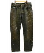 HELMUT LANG(ヘルムートラング)の古着「ペイントデニムパンツ」 インディゴ