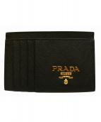 PRADA(プラダ)の古着「サフィアーノカードケース」|ブラック