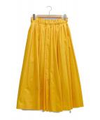 IENA(イエナ)の古着「ボリュームプリーツスカート」|イエロー