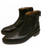 foot the coacher(フットザコーチャー)の古着「サイドレースジップアップブーツ」|ブラック