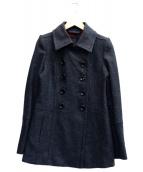 BURBERRY BLACK LABEL(バーバリーブラックレーベル)の古着「ダブルウールコート」 グレー