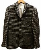 BLACK FLEECE BY Brooks Brothers(ブラックフリースバイブルックスブラザース)の古着「3Bアンコンジャケット」|ホワイト×ブラック
