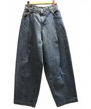 NEON SIGN(ネオンサイン)の古着「WIDE DENIM SLACKS USED パンツ」|インディゴ
