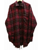 DIESEL(ディーゼル)の古着「ロング丈チェックシャツ」|パープル