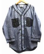 GANRYU(ガンリュウ)の古着「シャンブレーベースボールシャツ」|スカイブルー